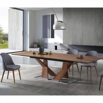 Tavolo da Pranzo Allungabile Fino a 294 cm in Legno Made in Italy - Monique