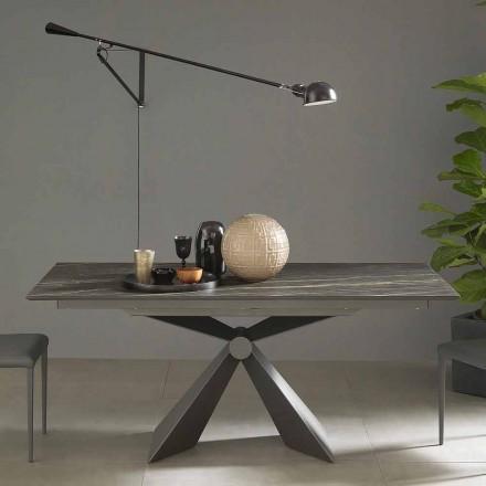 Tavolo da Pranzo Allungabile Fino a 298 cm in Ceramica Made in Italy - Anaconda