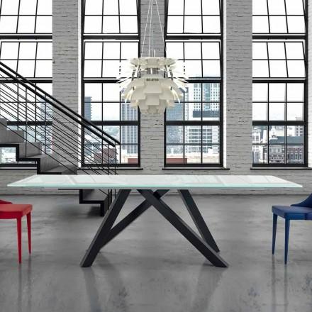 Tavolo da Pranzo Allungabile fino a 300 cm in Vetro Made in Italy – Settimmio