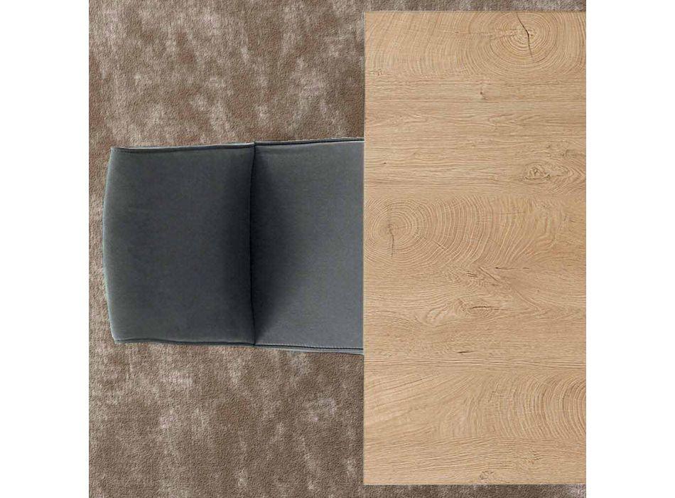 Tavolo da Pranzo Allungabile fino a 310 cm in Legno e Acciaio - Argentario