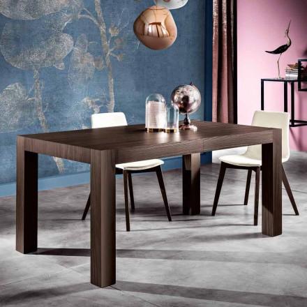 Tavolo da pranzo allungabile in legno melaminico fatto in Italia, Oky