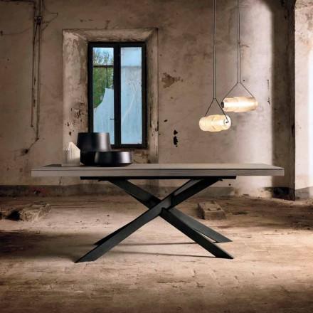 Tavolo Allungabile di Design in Legno Rovere 14 Posti - Oncino
