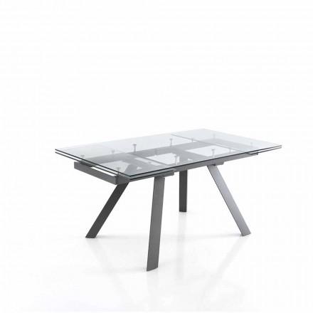 Tavolo da Pranzo Allungabile fino 240 cm in Vetro - Basilea