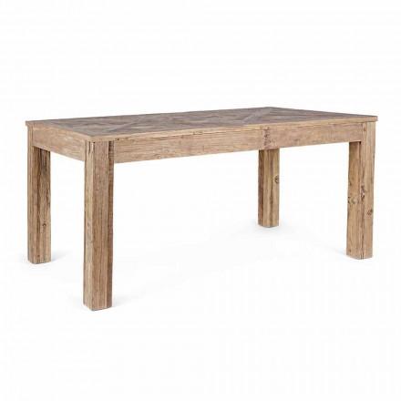 Tavolo da Pranzo con Piano e Gambe in Legno di Olmo Homemotion - Olmo