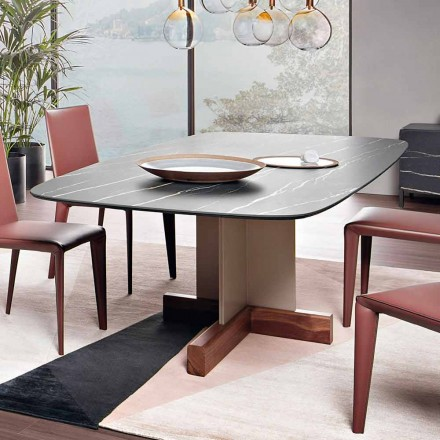 Tavolo da Pranzo con Piano in Ceramica Made in Italy - Bonaldo Cross Table