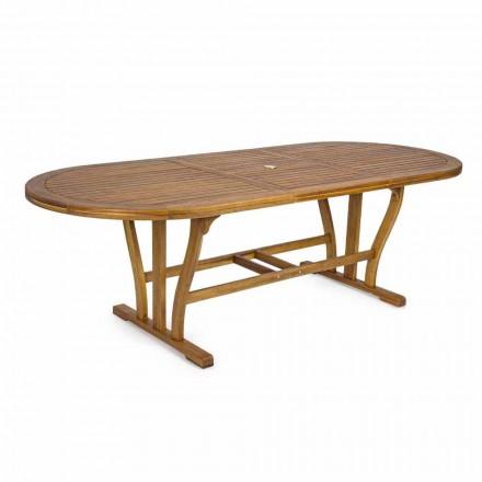 Tavolo da Pranzo da Esterno Allungabile Fino a 240 cm in Legno - Kaley