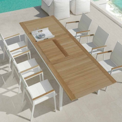 Tavoli In Legno Da Esterno Allungabili.Tavolo Da Pranzo Da Giardino Allungabile In Legno Di Teak Timber