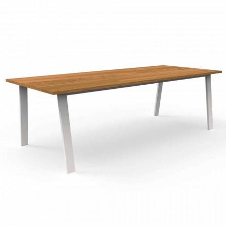 Tavolo da Pranzo da Giardino in Legno Iroko e Alluminio – Cottage by Talenti