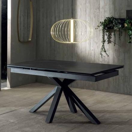 Tavolo da Pranzo Design con Piano in Ceramica Allungabile Fino a 240 cm - Ultron
