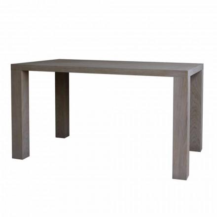 Tavolo da pranzo design moderno in rovere massello, L160xP90cm, Loran
