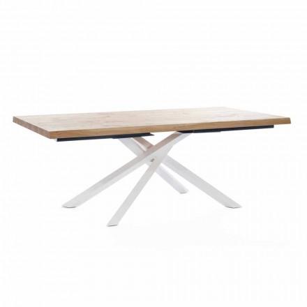 Tavolo da Pranzo di Design in Legno e Metallo Made in Italy - Skipper