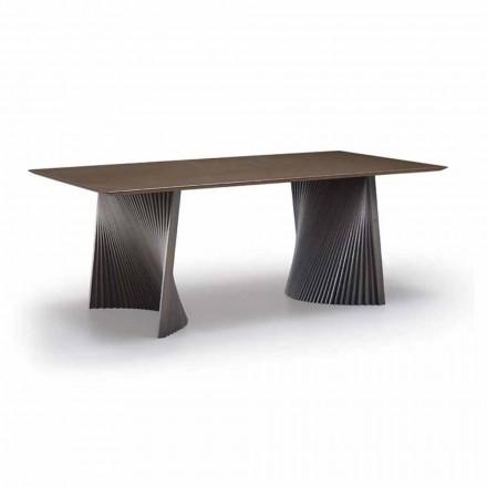 Tavolo da Pranzo di Alta Qualità in Gres e Frassino Made in Italy - Charol