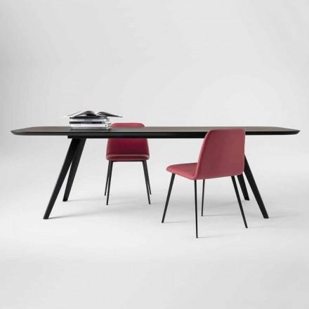 Tavolo da Pranzo di Qualità con Piano in Legno di Frassino Made in Italy - Ulma