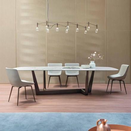 Tavolo da Pranzo in Ceramica e Metallo Bronzo Made in Italy – Bonaldo Art