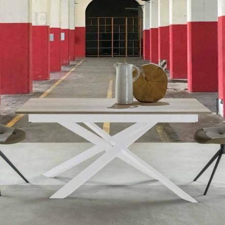 Tavolo da Pranzo Moderno Allungabile, Piano Laminato - Marliana