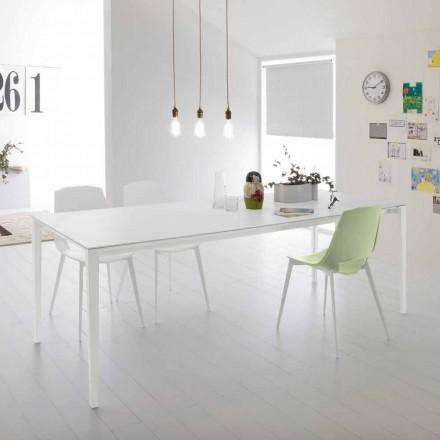 Tavolo da Pranzo Moderno Allungabile, Struttura Alluminio - Bolsena