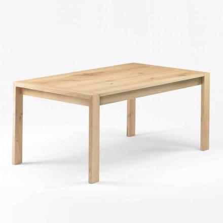Tavolo da Pranzo Moderno in Legno Rovere Massello Made in Italy - Willow