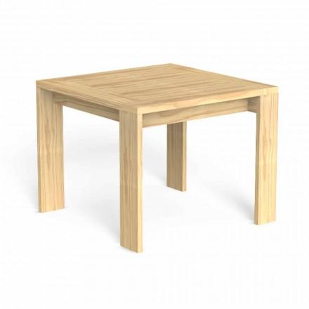 Tavolo da Pranzo per Esterni in Legno Pregiato Design Quadrato - Argo by Talenti
