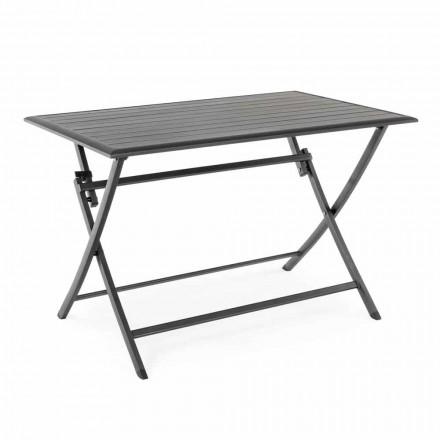 Tavolo da Pranzo per Esterno in Alluminio con Struttura Pieghevole - Hunt