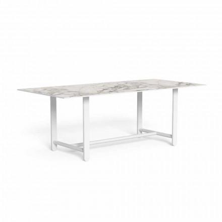 Tavolo da Pranzo da Esterno con Piano in Gres, Alta Qualità - Riviera by Talenti