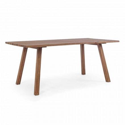 Tavolo da Pranzo per Esterno in Legno di Acacia Finitura ad Olio - Leonard