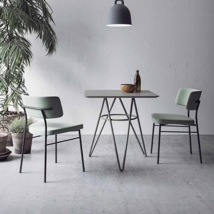 Tavolo da Pranzo Pregiato con Piano Quadrato in HPL Made in Italy - Dublino