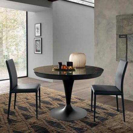 Tavolo da Pranzo Rotondo Allungabile in Ceramica Laminam Made in Italy - Lupetto
