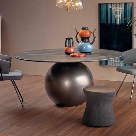 Tavolo da Pranzo Rotondo con Base in Metallo Made in Italy - Bonaldo Circus