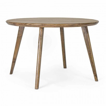 Tavolo da Pranzo Rotondo con Piano in Legno di Mango Homemotion - Rondolo