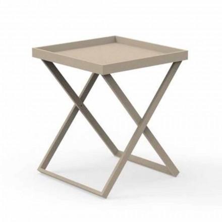Tavolino da Servizio da Esterno in Alluminio Design, 2 Altezze - Ray by Talenti