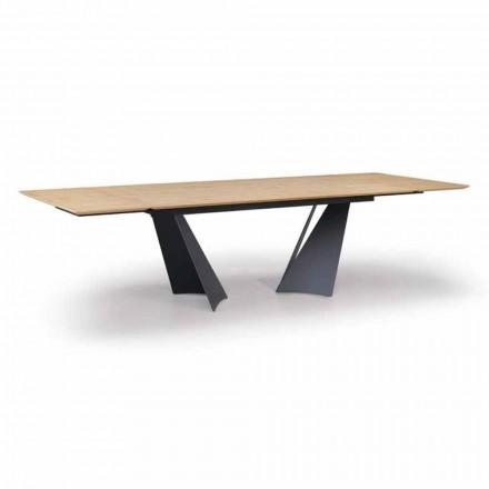 Tavolo Design Allungabile Fino a 294 cm in Legno e Metallo Made in Italy - Nuzzo