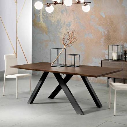 Tavolo di design in legno massellato prodotto in Italia, Wilmer