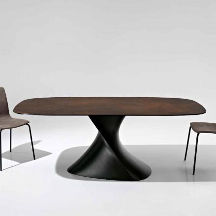 Tavolo di design moderno in vetroceramica prodotto in Italia, Clark