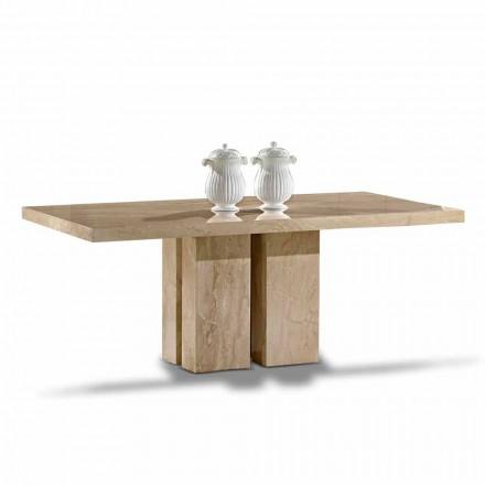 Tavolo di Lusso dal Design Moderno, Piano in Marmo Daino Made in Italy – Zarino
