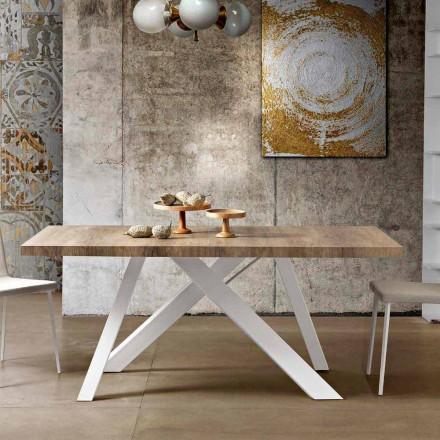 Tavoli da pranzo in legno o vetro di design classico o for Tavolo tondo estensibile