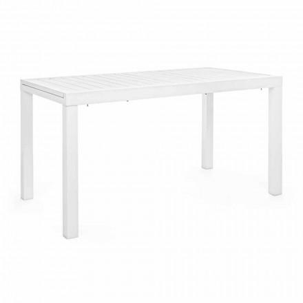 Tavolo da Giardino Allungabile Fino 240 cm in Alluminio Bianco o Tortora - Franz