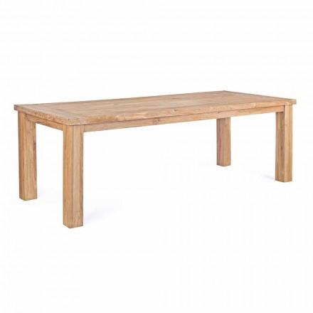 Tavolo da Giardino in Legno di Teak di Design, 8 Posti Homemotion - Hunter