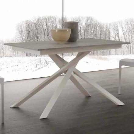 Tavolo in legno allungabile fino a 190 cm con base incrociata Lecce