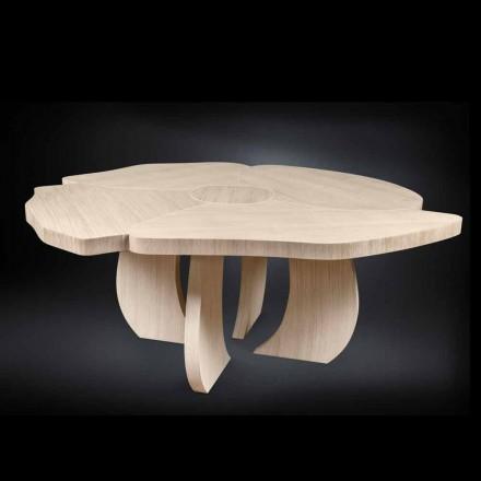 Tavolo in legno di rovere spazzolato con finitura in cera Andy
