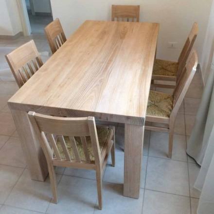Tavolo in Legno Massello di Frassino di Design Classico Made in Italy – Nicea