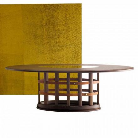 Tavolo in legno massello ellittico moderno Grilli Harris made in Italy