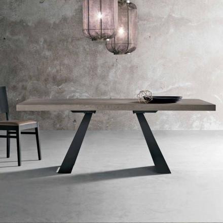 Tavolo in Legno Rovere Nodato Moderno Made in Italy - Zerba