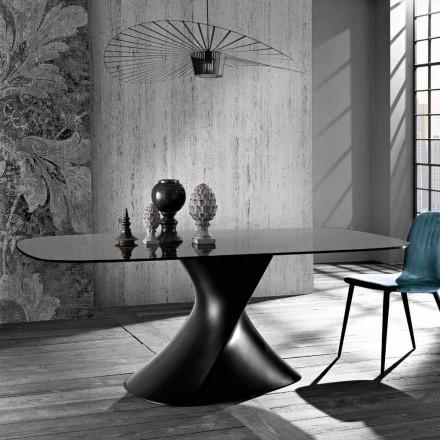 Tavolo in vetro temperato di moderno design prodotto in Italia, Clark