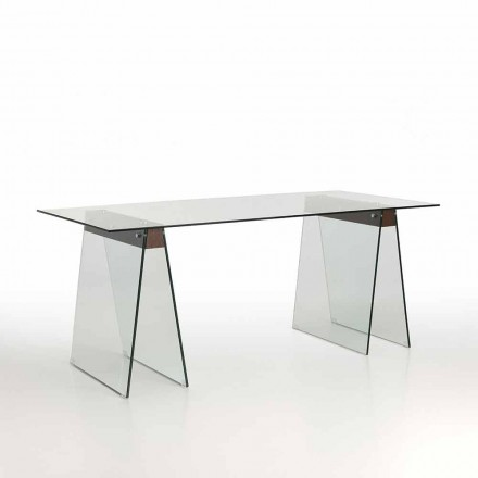Tavolo Living di Design Moderno con Piano in Vetro e Base in Vetro – Losanna