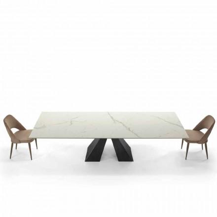 Tavolo Moderno Allungabile Fino a 300 cm in Ipermarmo Made in Italy – Dalmata