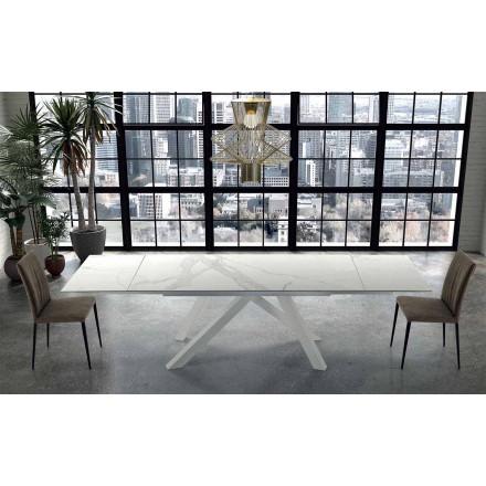 Tavolo Moderno Allungabile Fino a 300 cm in Ipermarmo Made in Italy – Settimmio