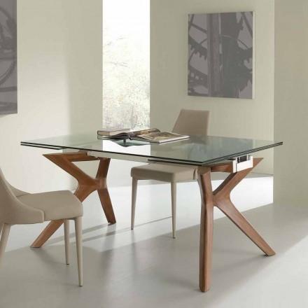 Tavoli allungabili da cucina e salotto in legno e vetro for Tavolo in cristallo moderno