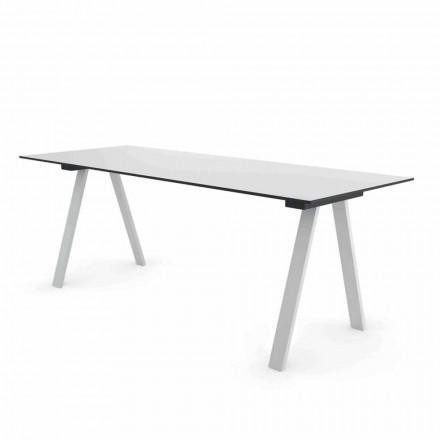 Tavolo Moderno da Esterno di Design in Metallo e HPL Made in Italy - Denzil