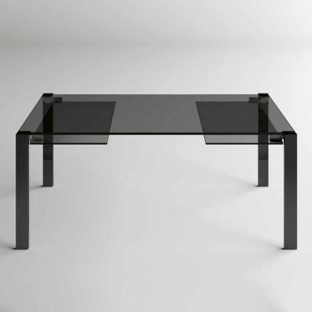 Tavolo Pranzo Allungabile Fino a 280 cm con Piano in Vetro  Made in Italy - Melo