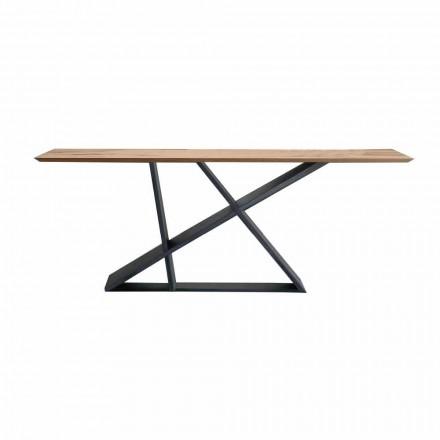 Tavolo Pranzo Allungabile Fino a 294 cm in Legno, Qualità Made in Italy - Cirio